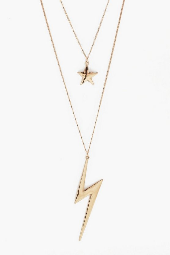 Maya Galactic Star& Lightening Layered Necklace