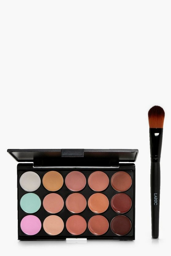 15 Colour Contour And Concealer Palette With Brush