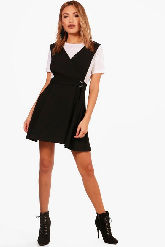 Emily Woven Pinafore Dress