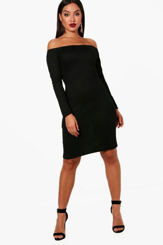 Georgina Bardot Rib Knit Dress