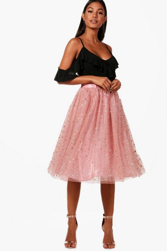 Tulle Star Midi Skirt
