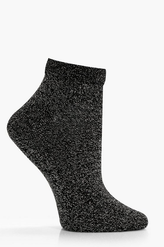 Hetty Sheer Top Glitter Ankle Socks