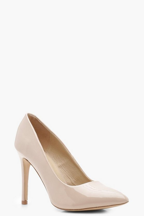 Wide Fit Pointed Court Shoes