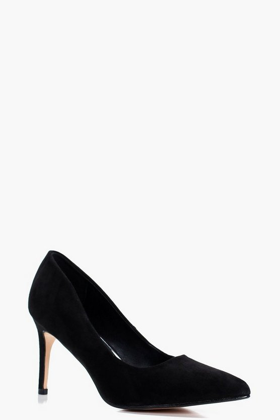 Low Heel Pointed Court Shoes