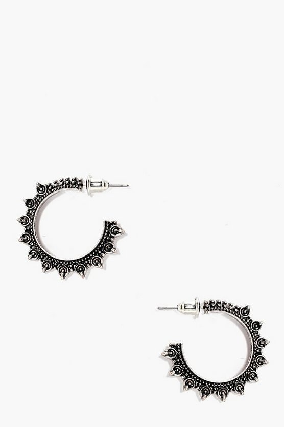Ivy Eastern Boho Hoop Earrings