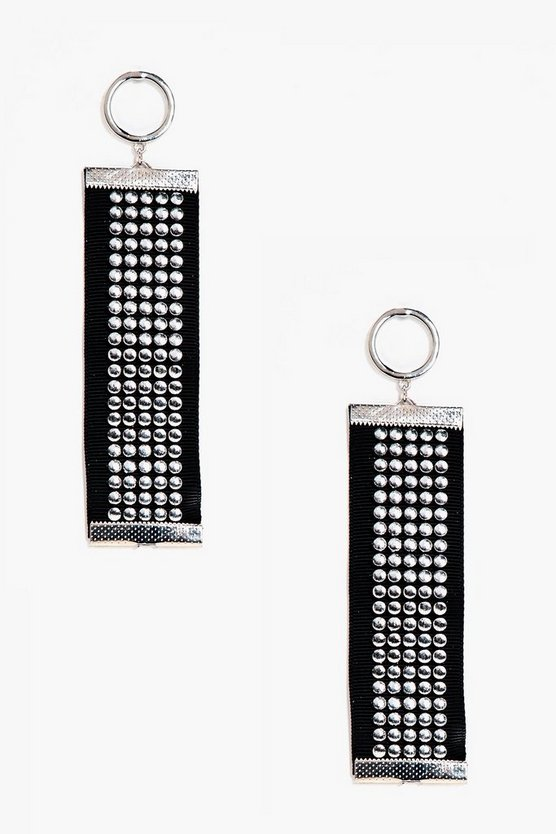 Hollie Studded Tape Detail Earrings