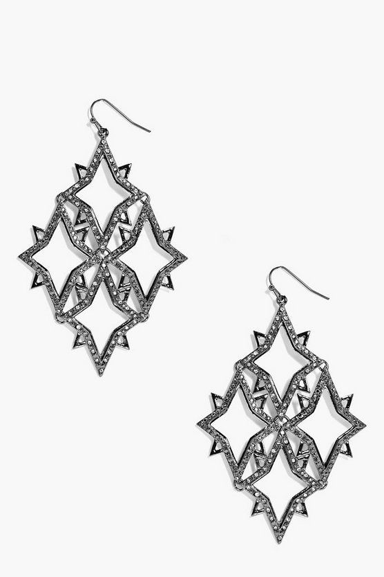 Regan Statement Galactic Diamante Earrings