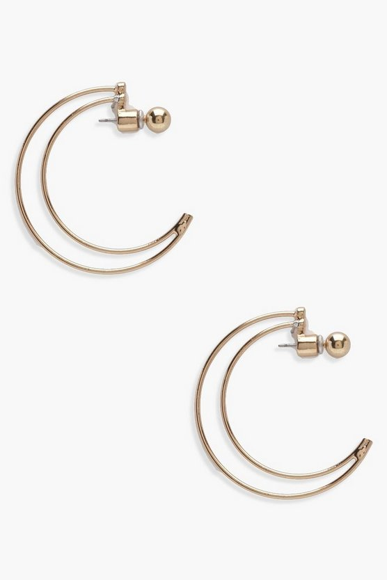 Abi Half Moon Hoop Earrings