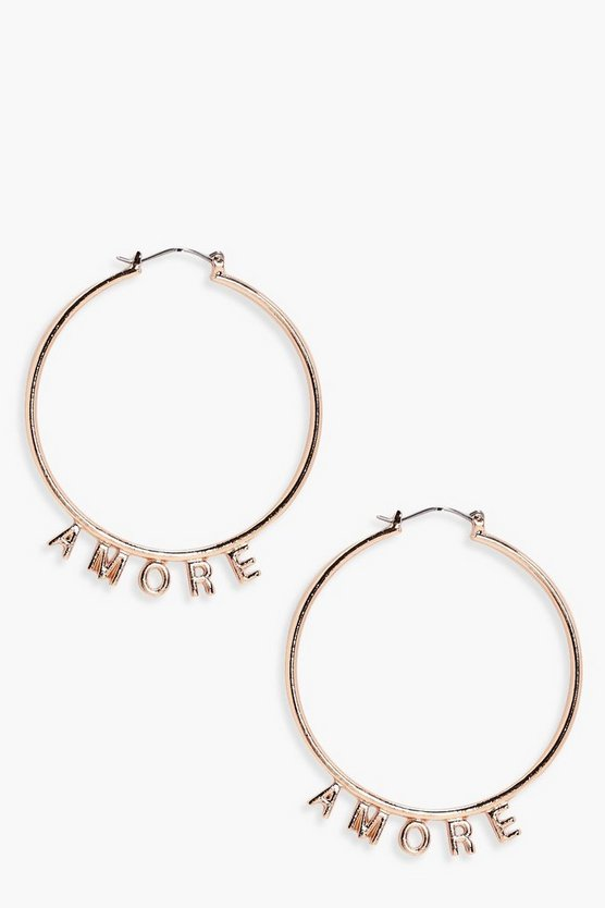 Kate Amore Slogan Hoops