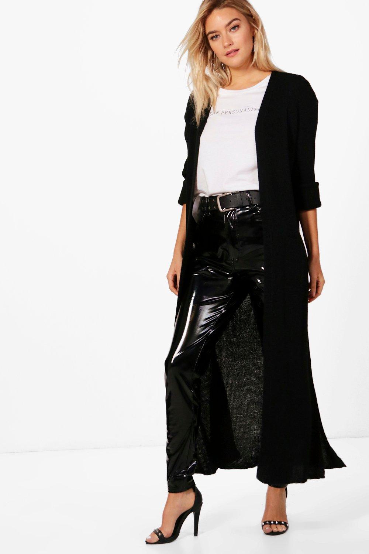 Boohoo Womens Alicia Turn Up Cuff Maxi Cardigan | eBay