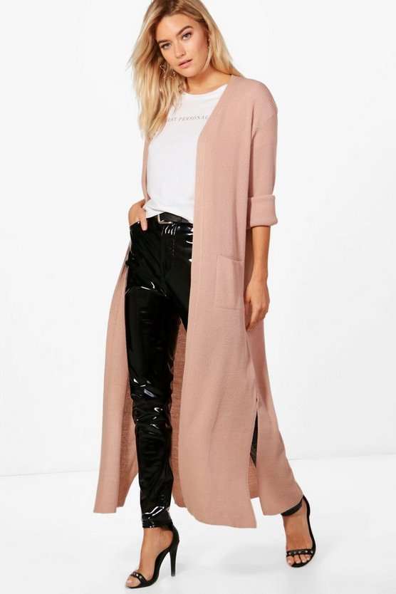 Turn Up Cuff Maxi Cardigan
