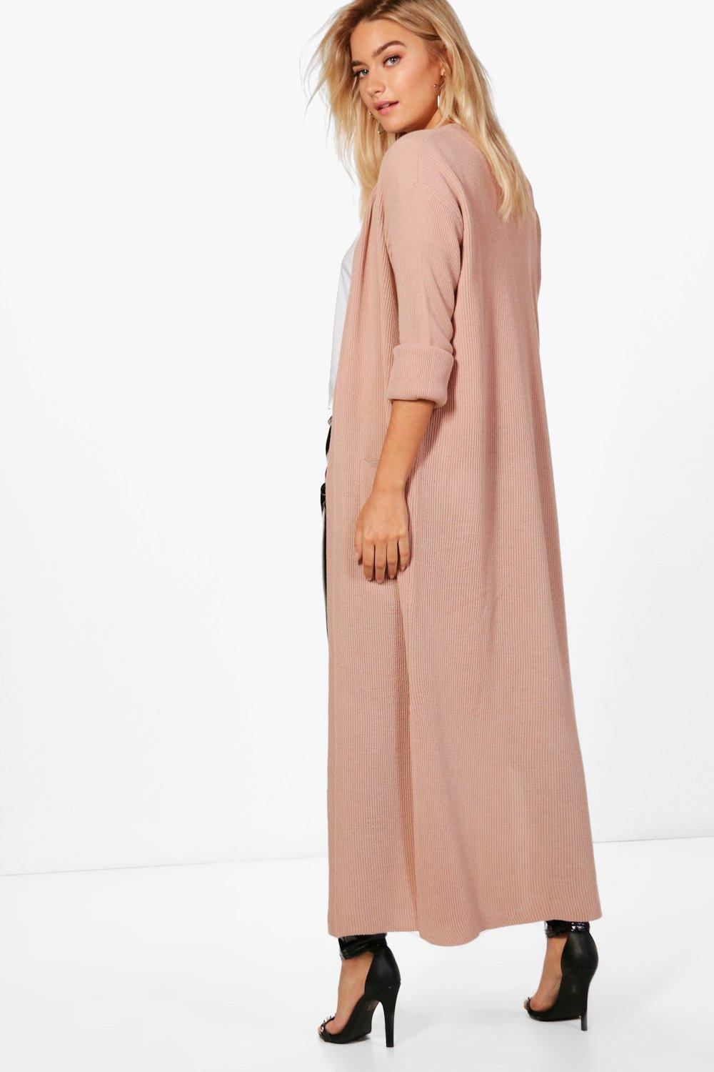 Turn nude Maxi Up Cuff Cardigan gqvwgrxI