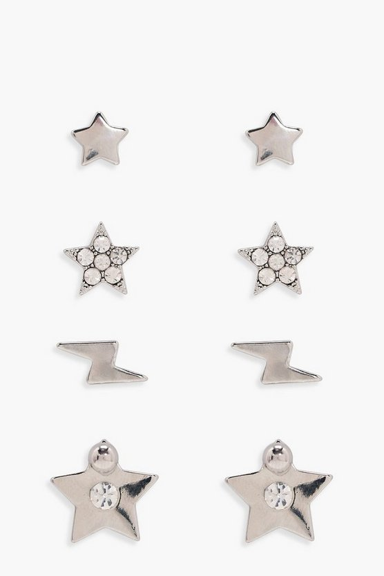 Evelyn Star Galactic Stud Earring Pack