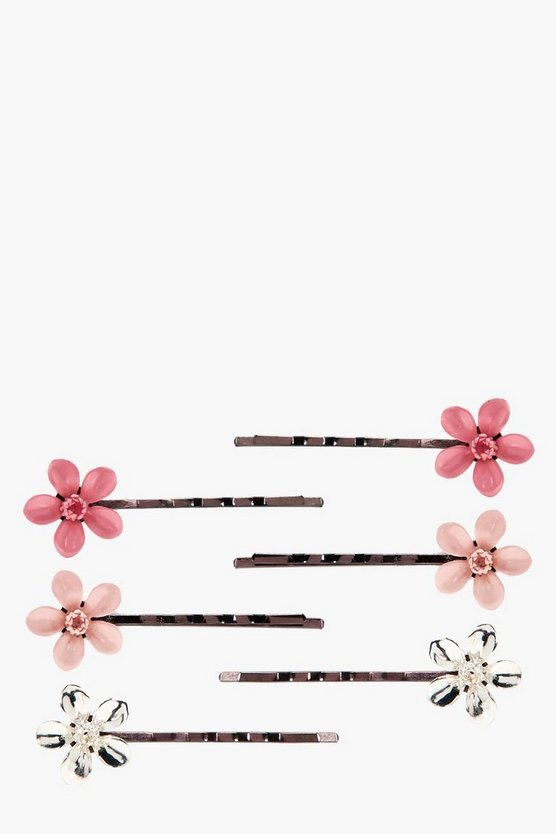Emma Oriental Floral Hair Grip 6 Pack