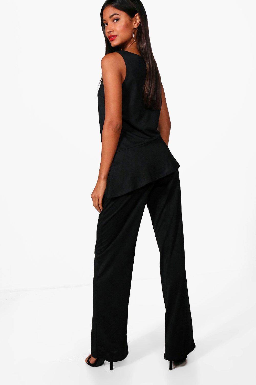 boohoo bella pantalon large pour femme ebay. Black Bedroom Furniture Sets. Home Design Ideas
