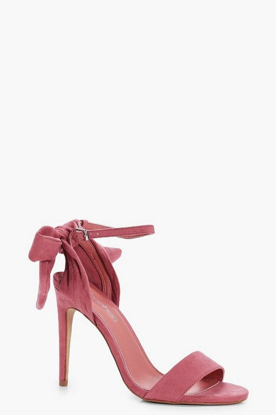 Lily Bow Back 2 Part Heels