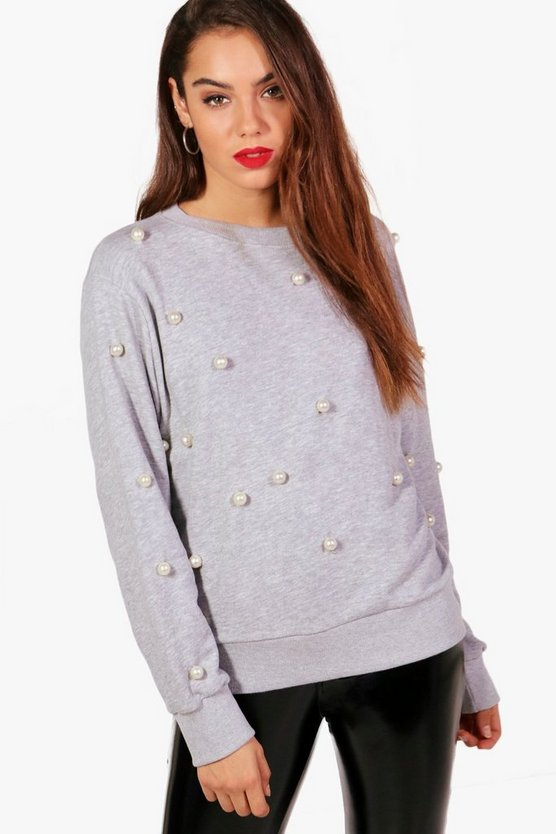 All Over Pearl Detail Sweat