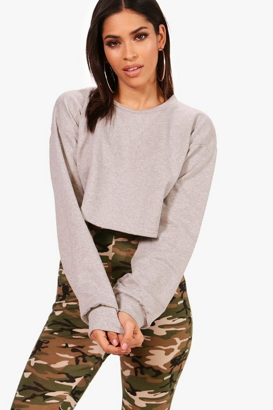 Balloon Sleeve Oversized Sweatshirt