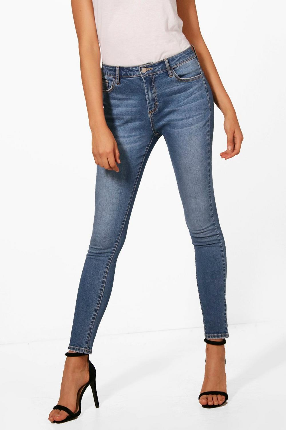 mid Mid blue Rise Skinny Jeans qwOHZF