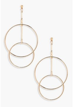 Layered Hoop Earrings, Gold, Donna