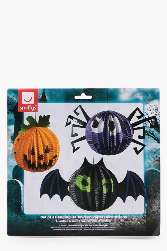 Hanging Halloween Paper Decorations x3