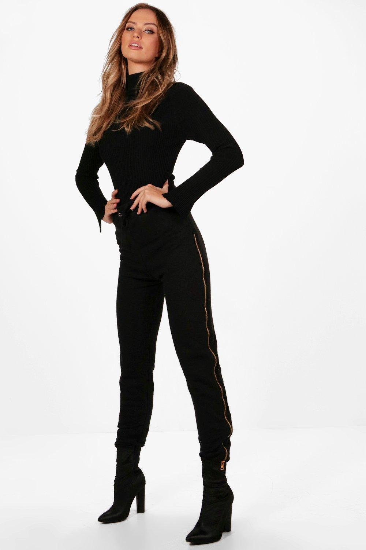 boohoo jogginghose mit flottf den und georgia. Black Bedroom Furniture Sets. Home Design Ideas