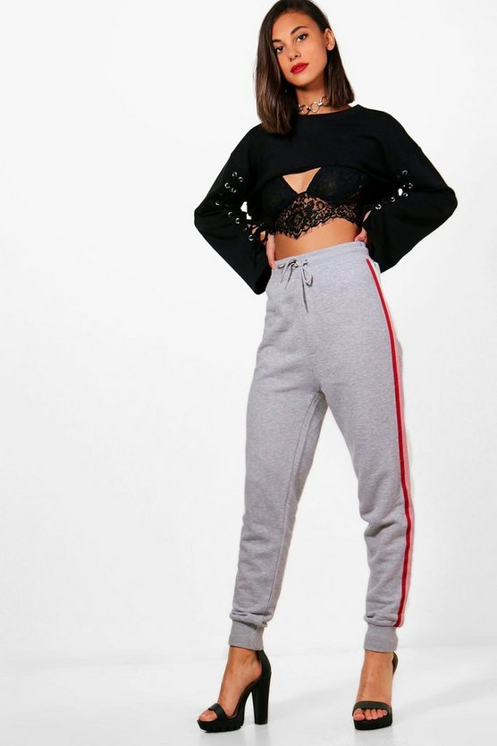 Sports Stripe Loopback Joggers