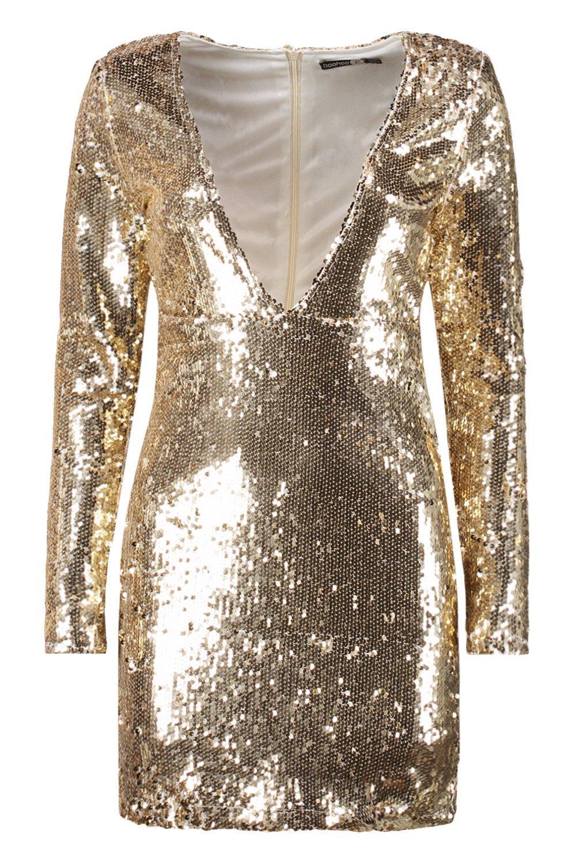 e9277f16 Boohoo Womens Boutique Sequin Bodycon Dress | eBay