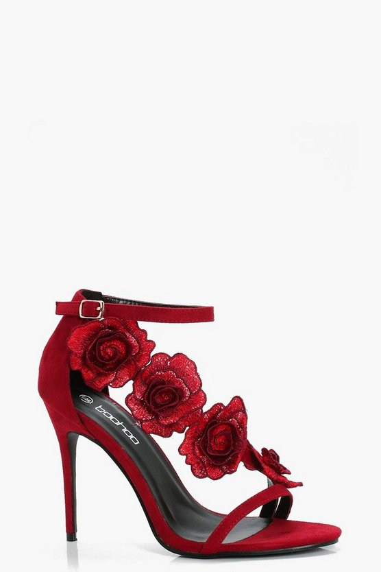 Florence Rose Cross Strap Heels
