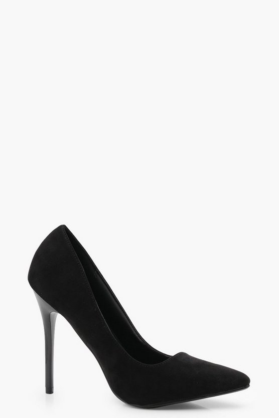 Grace Pointed Stiletto Court Heels, Black, Donna