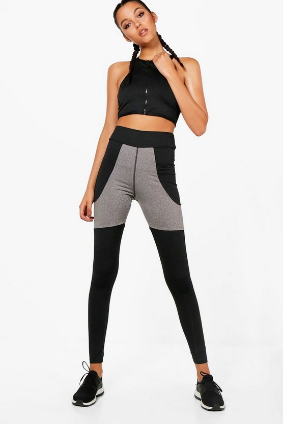Fit Open Mesh Panel Running Legging