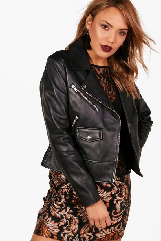 Natalie Leather Biker Jacket