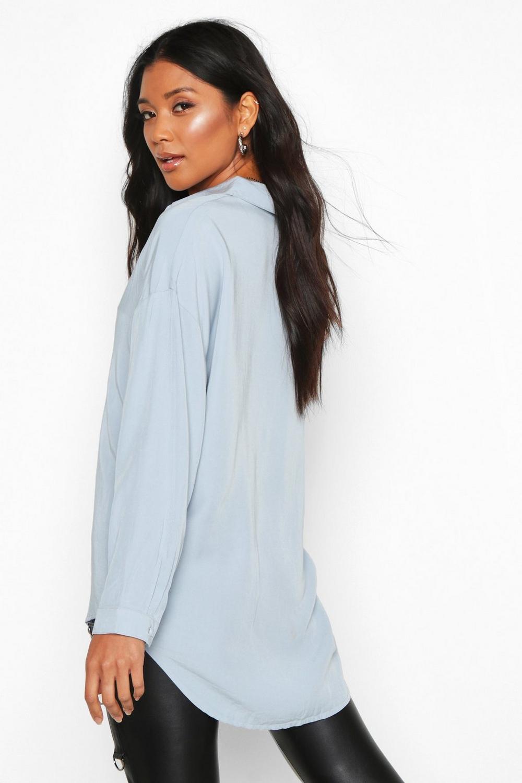 Soft light Touch blue Shirt Denim Oversized cwa8ZqxB18
