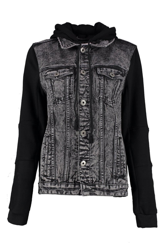 Denim Oversized Jersey Jacket Oversized Jacket Sleeve Sleeve Jersey Sleeve Jersey Denim 8gwwqt1P