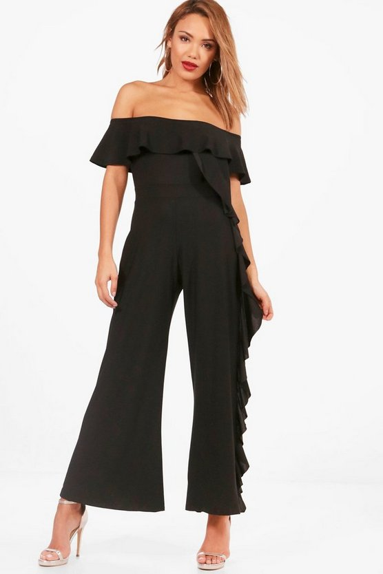 Wide Ruffle Leg Jumpsuit