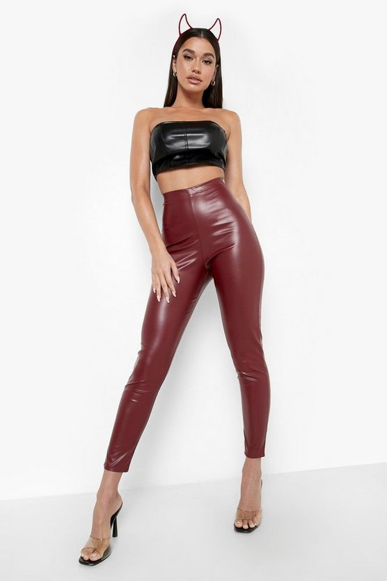 Vinyl High Waist Leggings