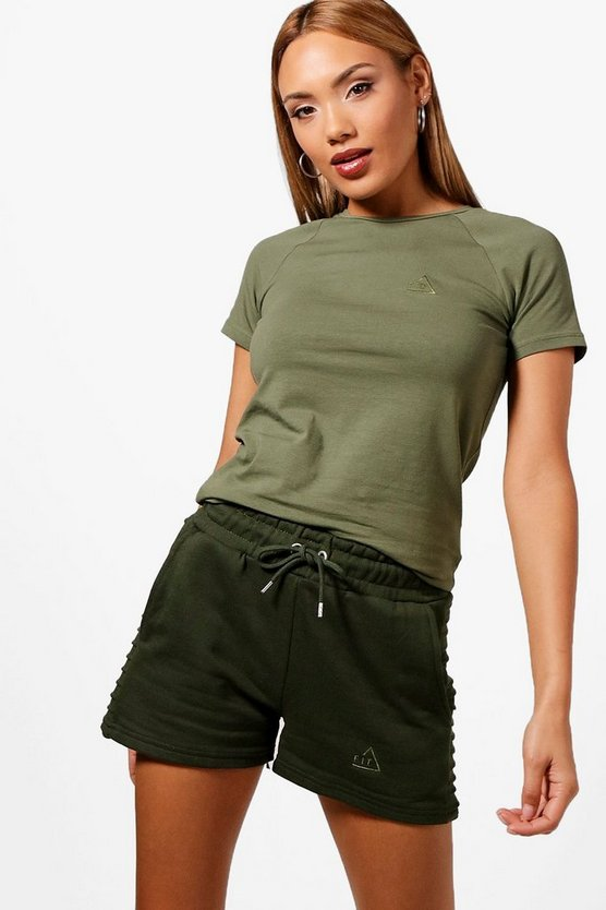 Khaki Bethany Fit Support Training T-Shirt