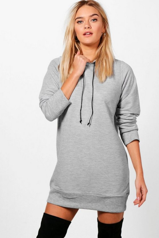 Olivia Rose Embroidery Hooded Sweat Dress