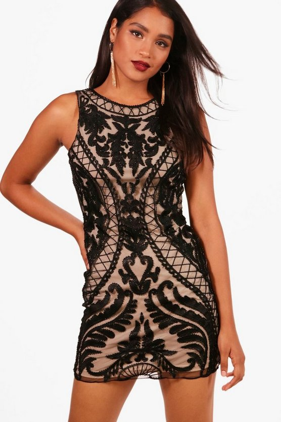 Boutique Embroided Bodycon Dress