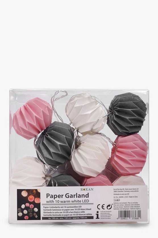Womens Pale pink Pastel Multicoloured Paper Garland