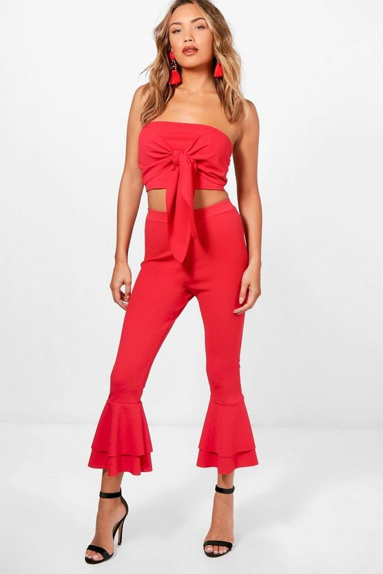 Bec Double Frill Culotte & Crop Co-Ord Set