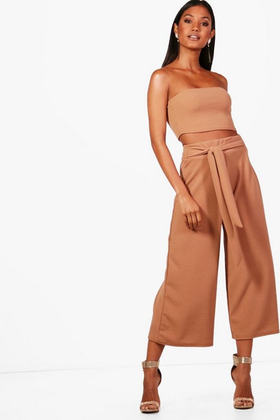 Tie Waist Culotte Co-Ord Set