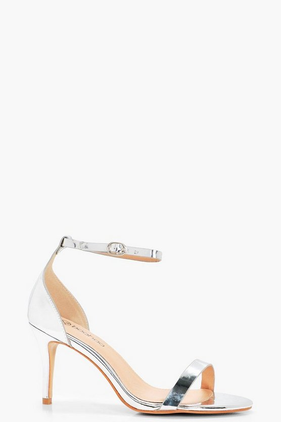 Wide Fit Metallic Two Part Heels