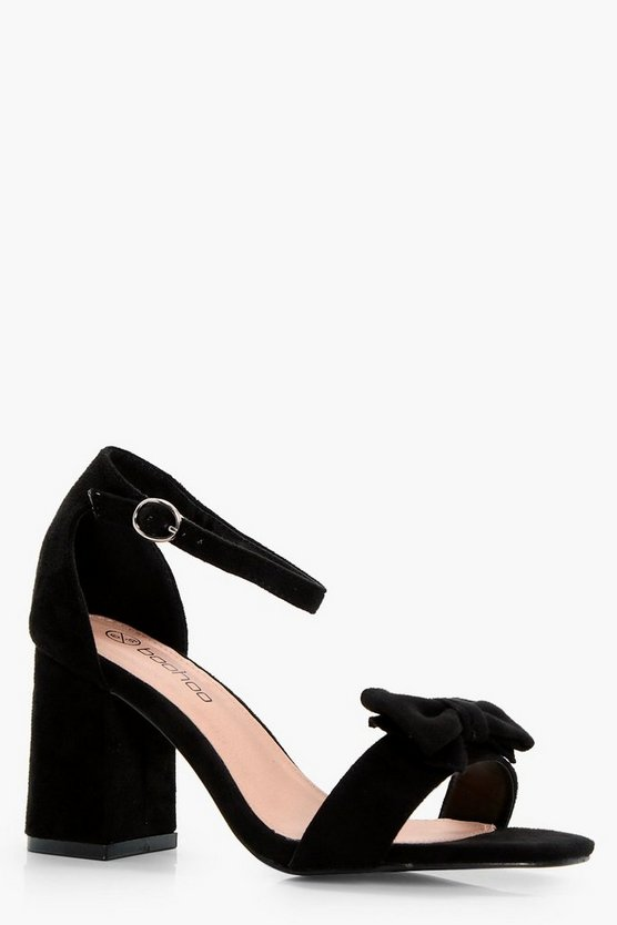 Lena Bow Detail Block Heels