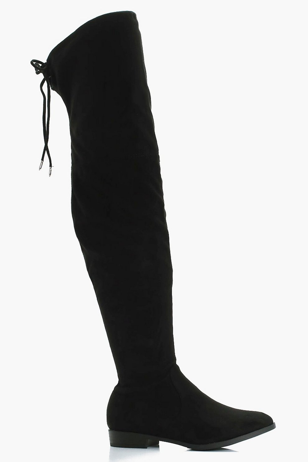 0ff84233ca Alicia Wide Fit Flat Suedette Over the Knee Boots | Boohoo