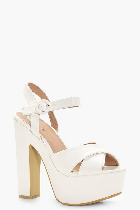 Madison Cross Strap Platform Heels