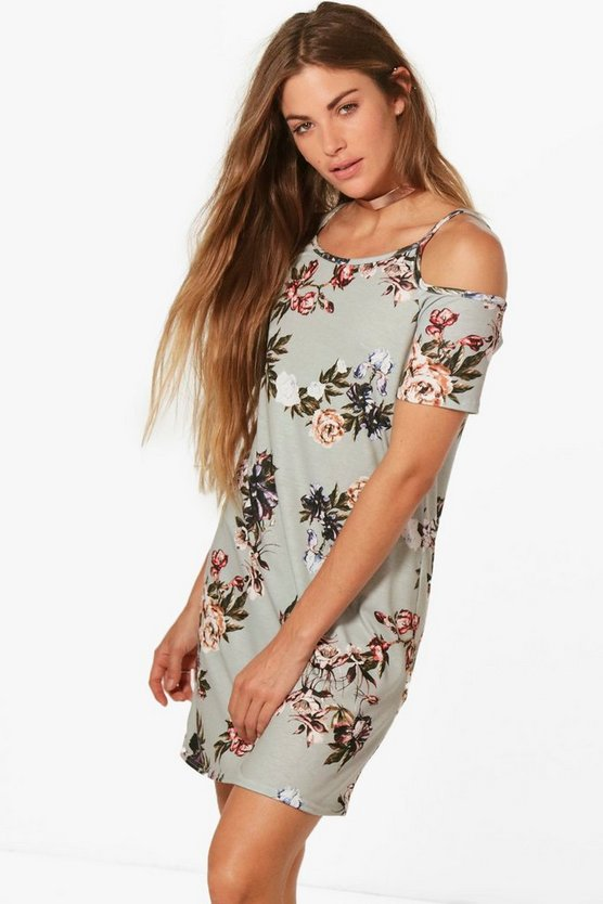 Orla Printed Cold Shoulder Shift Dress