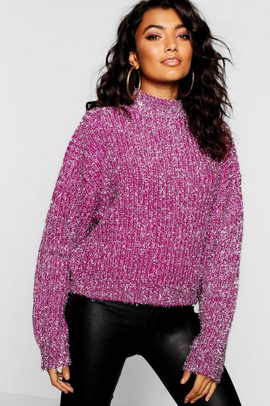 Tinsel Metallic Knit Jumper