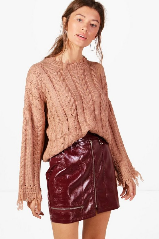 Kelly Oversized Cable Knit Jumper
