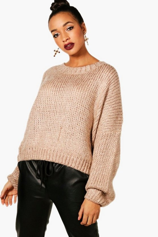 Crop Oversized Chunky Jumper